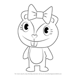 How to Draw Giggles from Happy Tree Friends
