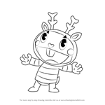 How to Draw Mime from Happy Tree Friends