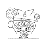 How to Draw Mouse Ka-Boom from Happy Tree Friends