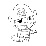How to Draw Russell from Happy Tree Friends