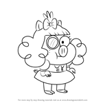 How to Draw Monocle Marla from Harvey Beaks
