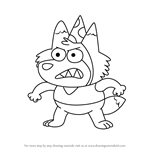 How to Draw Paul from Harvey Beaks