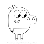 How to Draw Roly from Hey Duggee