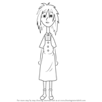 How to Draw Lazy Linda from Horrid Henry