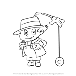 How to Draw Gadget Boy from Inspector Gadget
