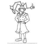 How to Draw Inspector Gadget from Inspector Gadget