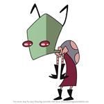 How to Draw Invader Gooch from Invader Zim