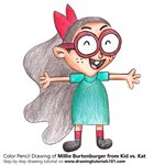 How to Draw Millie Burtonburger from Kid vs. Kat