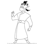 How to Draw Dr. Drakken from Kim Possible