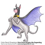 How to Draw Ace from Krypto the Superdog