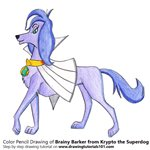 How to Draw Brainy Barker from Krypto the Superdog