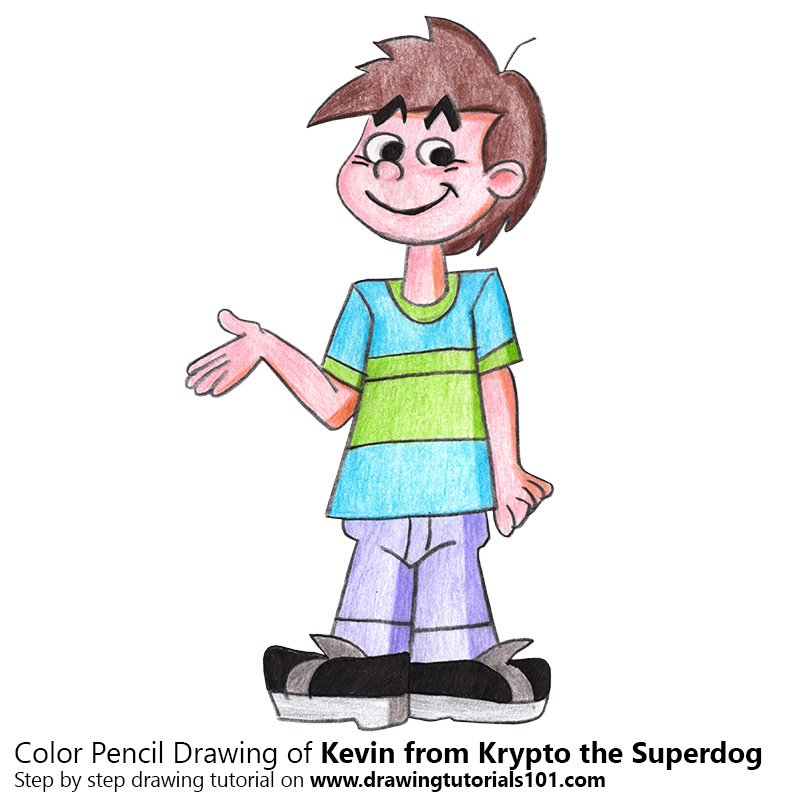 Kevin from Krypto the Superdog Color Pencil Drawing