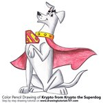 How to Draw Krypto from Krypto the Superdog