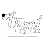 How to Draw Paw Pooch from Krypto the Superdog