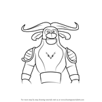 How to Draw Grim from Kung Fu Panda - Legends of Awesomeness