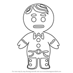 How to Draw Gingerbread boy from Little Charmers