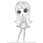 How to Draw Blythe Baxter from Littlest Pet Shop