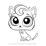 How to Draw Meow-Meow from Littlest Pet Shop