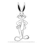 How to Draw Bugs Bunny from Looney Tunes