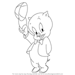 How to Draw Porky Pig from Looney Tunes
