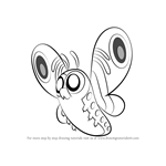 How to Draw Giant Butterfly from Looped
