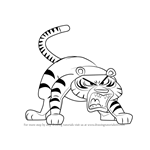 How to Draw Timmy the Tiger from Looped