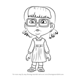 How to Draw Dasha from Masha and the Bear