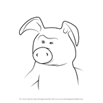 How to Draw Pig from Masha and the Bear