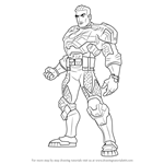 How to Draw Commander Forge Ferrus from Max Steel