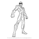 How to Draw Max Steel from Max Steel
