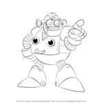 How to Draw Auto from Mega Man