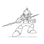 How to Draw Enker from Mega Man