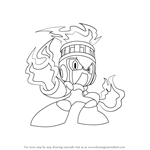 How to Draw Fire Man from Mega Man