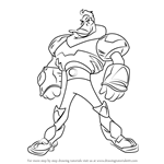 How to Draw Wildwing Flashblade from Mighty Ducks