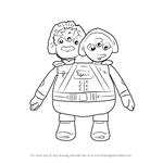 How to Draw Admirals Watson and Crick from Miles from Tomorrowland