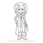 How to Draw Frida from Miles from Tomorrowland