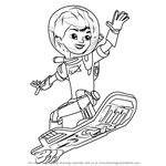 How to Draw Miles Callisto from Miles from Tomorrowland
