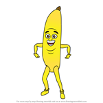 How to Draw Banana Man from Miraculous Ladybug