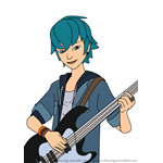 How to Draw Luka Couffaine from Miraculous Ladybug