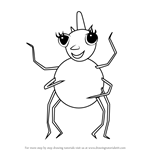 How to Draw Miss Spider from Miss Spider's Sunny Patch Friends