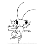 How to Draw Shimmer from Miss Spider's Sunny Patch Friends