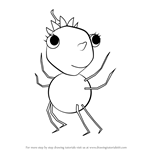 How to Draw Squirt from Miss Spider's Sunny Patch Friends