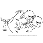 How to Draw Cerberus from My Little Pony - Friendship Is Magic