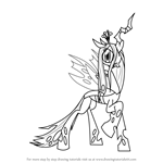 How to Draw Queen Chrysalis from My Little Pony - Friendship Is Magic