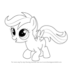 How to Draw Scootaloo from My Little Pony: Friendship Is Magic