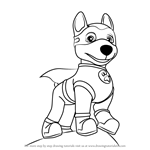 How to Draw Apollo the Super-Pup from PAW Patrol