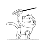 How to Draw Cat Chase from PAW Patrol