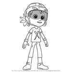 How to Draw Danny from PAW Patrol
