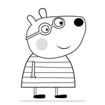 How to Draw Belinda Bear from Peppa Pig