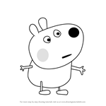 How to Draw Bertie Bear from Peppa Pig
